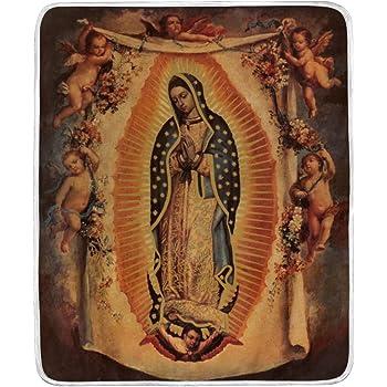 "Super Soft Guadalupe Raschel Throw Blanket 50/"" X 60/"""