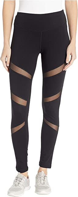 Mesh Insert Cotton Leggings
