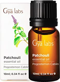 Gya Labs Patchouli Essential Oil For Stress Relief, Relaxation & Sleep - Topical Use For Acne & Dry Skin - Reduce Dandruff...