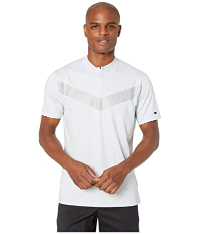 Nike Golf TW Dry Vapor Reflective Polo (Pure Platinum/Black) Men