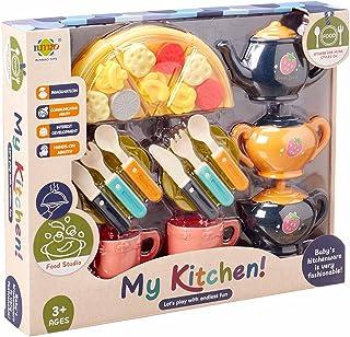 لعبة مجموعة ادوات المطبخ للاطفال من رنماو تويز - 16 قطعة