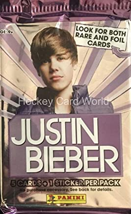Justin Bieber 2010 Panini Packet Pack Stickers Sealed