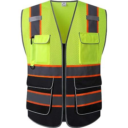 XX-Large OSHA//ANSI Compliant High Visibility Yellow Safety Surveyor Vest