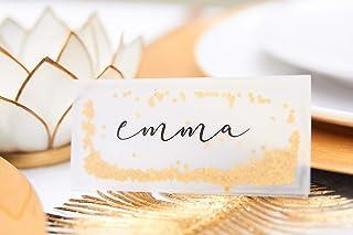 Segnaposto Natalizio Oro | Biglietti Segnaposto Natale Matrimonio Compleanno Battesimo | Elegante Dorato