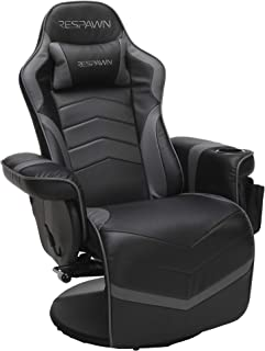 RESPAWN-900 Racing Style Gaming Recliner, Reclining Gaming Chair, in Gray (RSP-900-GRY)