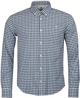 Barbour International Steve Mcqueen Gingham Antique Shirt White-XL