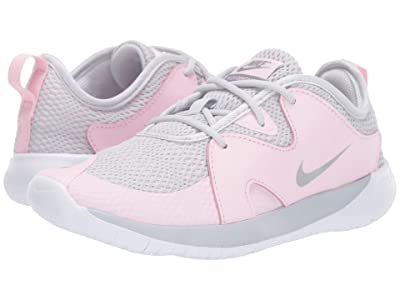 Nike Kids Flex Contact 3 (Big Kid) (Pure Platinum/Metallic Silver/Pink Foam) Kids Shoes