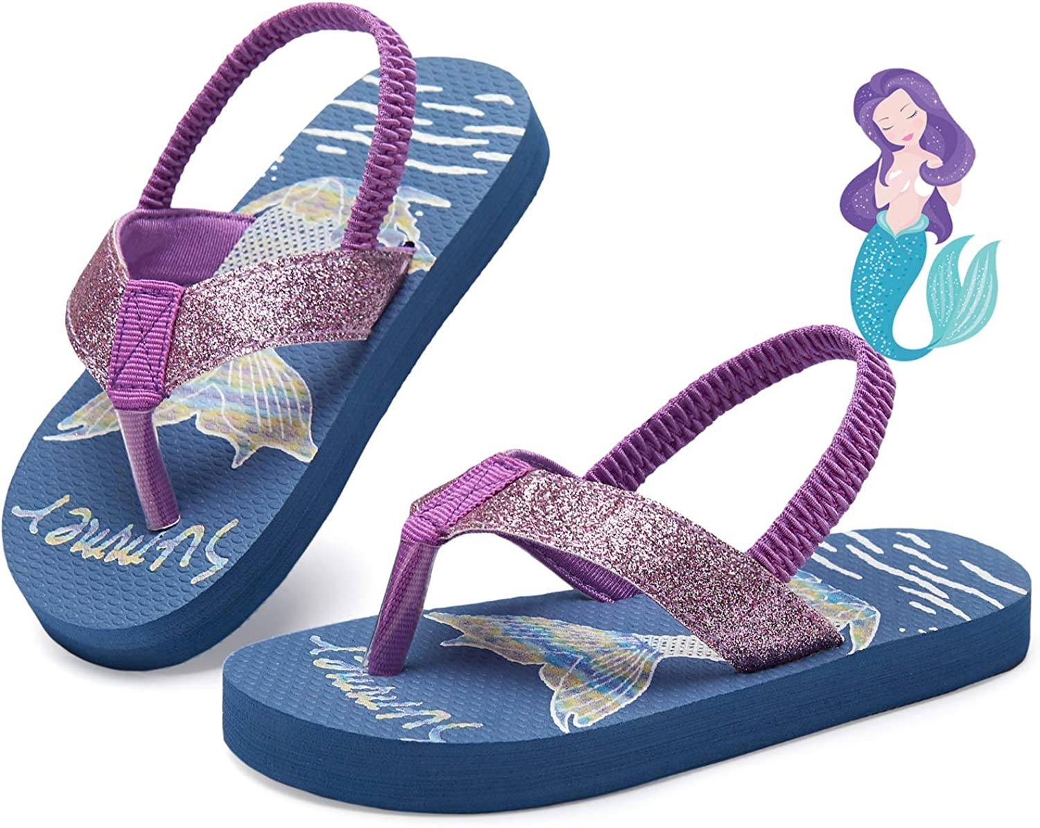 Smilore Toddler Flip Flops Boys & Girls Sandals | Kids Water Shoes for Beach and Pool
