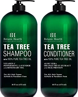 Botanic Hearth Tea Tree Shampoo and Conditioner Set – with 100% Pure Tea Tree Oil,..