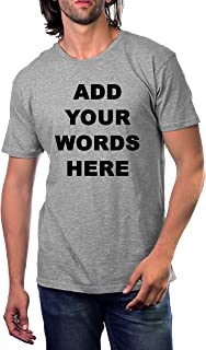 BOWS2SWEET Custom T Shirts Ultra Soft Add Your Text for Unisex Cotton T Shirt