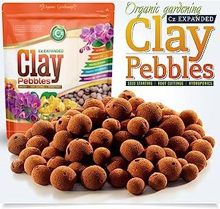 Organic Expanded Clay Pebbles Grow Media - Orchids • Hydroponics • Aquaponics • Aquaculture Cz Garden (2 LBS Cz Gard...