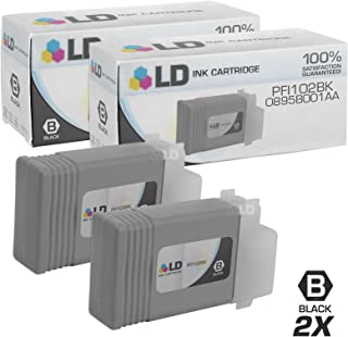 LD Compatible Ink Cartridge Replacement for Canon PFI-102Bk 0895B001AA (Black, 2-Pack)