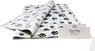 Puppy Paw Print Tissue Paper - 48 Sheets – 15 Inch x 20 Inch - for Gift Bags, Gift Wrapping, Flower, Party Decoration, Pom Poms - Premium Quality Made in United States