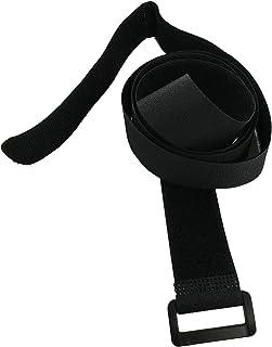 10x 60cm correas con cierre velcro cinturón multiuso cinto para amarrar y almacenar, con ojal o hebilla, práctica como alargador, 100 % nailon, la carpintería o, set 10 unidades, 60 cm