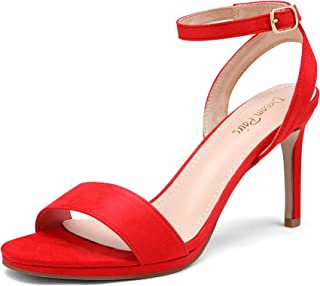 Women's High Stiletto Open Toe Ankle Strap Heels Dress Pump Heel Sandals