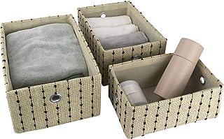 La Jolíe Muse - Juego de 3 cestas de almacenamiento tejidas grandes para armarios cajones armarios cajones armarios a...