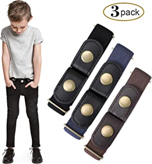 Buckle Free Elastic Kids Toddler Belt, No Buckle Stretch Adjustable Belts for Girls Boys by WHIPPY