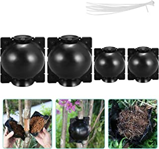 Eyoloty Reusable Rooting Device with 20Pcs Zip Ties, Root Growing Box, High-Pressure Box Grafting Botany Root Controller, ...