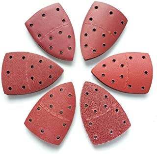 Bond Abrasive Sanding Sheets, Mouse Sandpaper Hook and Loop, Assorted 8 Grit, Fit Bosch PSM 100A Detail Palm Sander Mixed Grit, 40 PCS