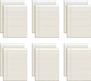 """TOPS Prism Writing Pads, 8-1/2"""" x 11-3/4"""", Legal Rule, Ivory, Perforated, 50 Sheets, 12 Pack (63130)"""