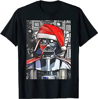 Darth Vader Santa Hat Christmas Painting Poster T-Shirt