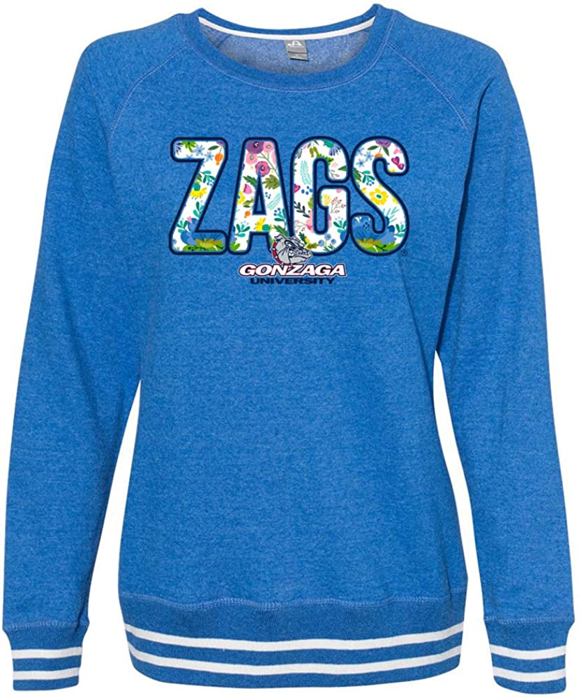 low-pricing Venley Official NCAA Indefinitely Gonzaga University Women's Zags Crew Floral