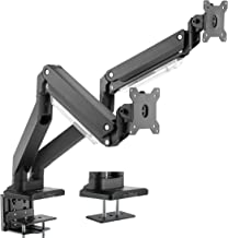 VIVO Premium Aluminum Dual Monitor Pneumatic Spring Arms Desk Mount Stand with USB 3.0 and Audio/Mic Ports | Fits 2 Screens up to 32 inches (STAND-V102G2U)