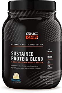 GNC AMP Sustained Protein Blend - Confetti Cake, 2.04 lbs, High-Quality Protein Powder for Muscle Fuel
