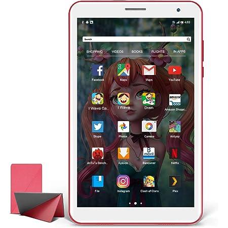 Tablettes Tactile pour Enfants 8 Pouces, Android 10.0 Tablet PC, Quad Core, HD IPS Affichage, Certificat GMS, 3Go RAM 32Go ROM, WiFi, Bluetooth, Tablette pas Cher Enfants Cadeau d'anniversaire (Rouge)