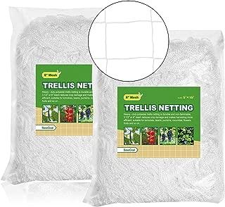 BaseGoal All-Weather Trellis Netting Garden Vine Plant Growing Flexible String Net (6