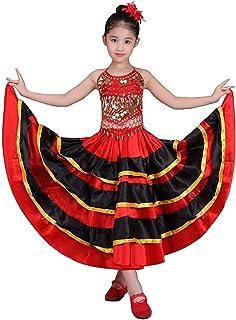Lolanta Adultes Jupes De Danse Flamenco Espagnoles /à Lacets Robe Gypsy Rouge