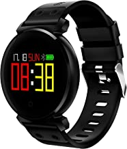 Montreit Activity Tracker Watch Waterproof with Pedometer, Heart Rate Monitor, Sleep Monitor and Call Reminder Functions for Android & iOS Smart Watch (Black)