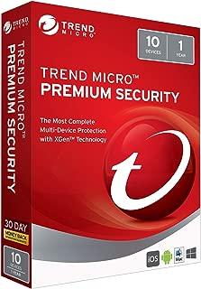 Trend Micro Max Premium Security 2018 10 User [Key Card]