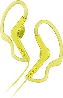 Sony MDR-AS210AP - Stänktåliga In-ear sporthörlurar med inbyggd mikrofon - Gul