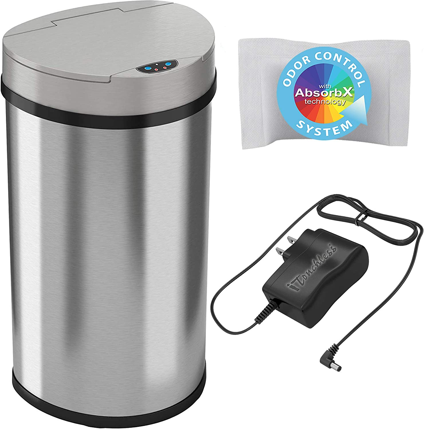 iTouchless 13 Gallon Gorgeous Semi-Round Sensor Extra-Wide Opening supreme Touchl