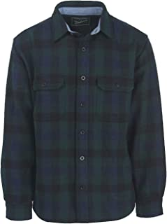 Men's Wool-Blend Buffalo-Plaid Shirt