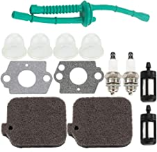 BG55 Air Filter Primer Bulb Fuel Line Filter Spark Plug for Stihl Leaf Blower BG45 BG46 BG65 BG85 BR45 BR45C SH55 SH85 Parts Kit, Stihl 42291201800, 4229 120 1800