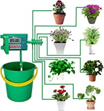 Yardeen Micro Automatic Drip Irrigation Kit Self Watering System Sprinkler Controller for Indoor Potted Plants Color Green