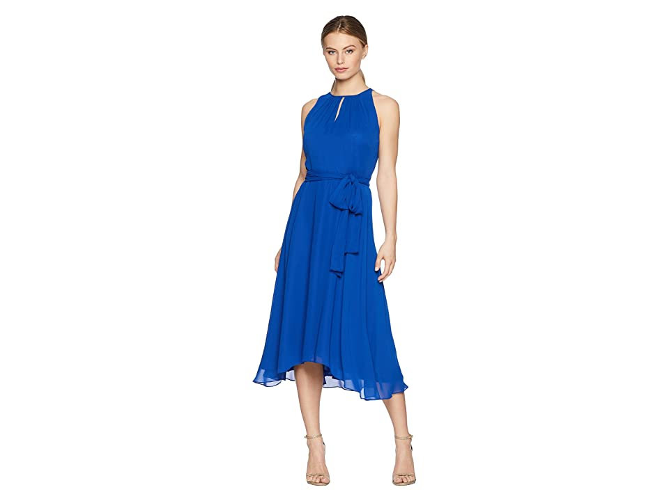 Tahari by ASL Petite Sleeveless Keyhole Shift Dress (Neon Royal) Women