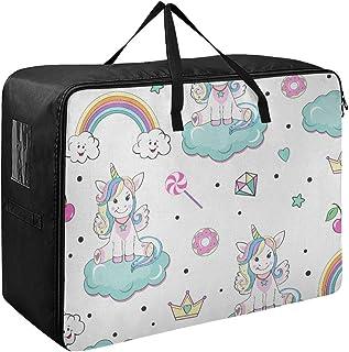 N\A Organisation Vêtements Belles Licornes Pop Art Quotidien Vêtements Organisateur 70 X 50 X 28 Cm Couette Couvre-lit Ore...