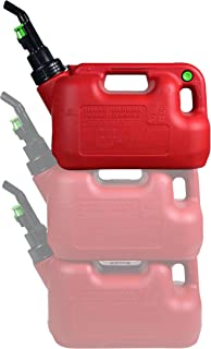Fuelworx 47901 1.5 Gallon Stackable Gas Can Made in the USA with Easy Pour Nozzle and CARB Compliant