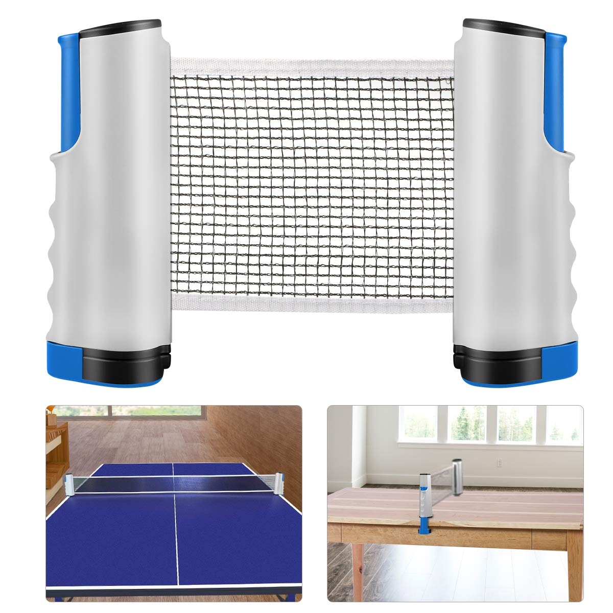Red de Tenis de Mesa, Repuesto Portátil Retráctil Table Tennis Net - Ping Pong Net para Entrenamiento Abrazaderas, Longitud ajustable 200 (max) x 14.5cm: Amazon.es: Deportes y aire libre