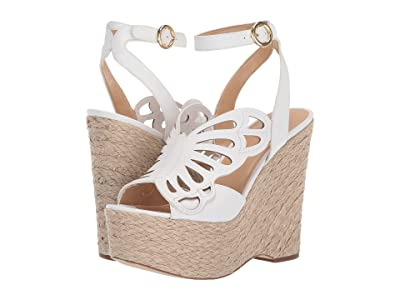 MICHAEL Michael Kors Felicity Wedge (Optic White Vachetta/Jute) Women