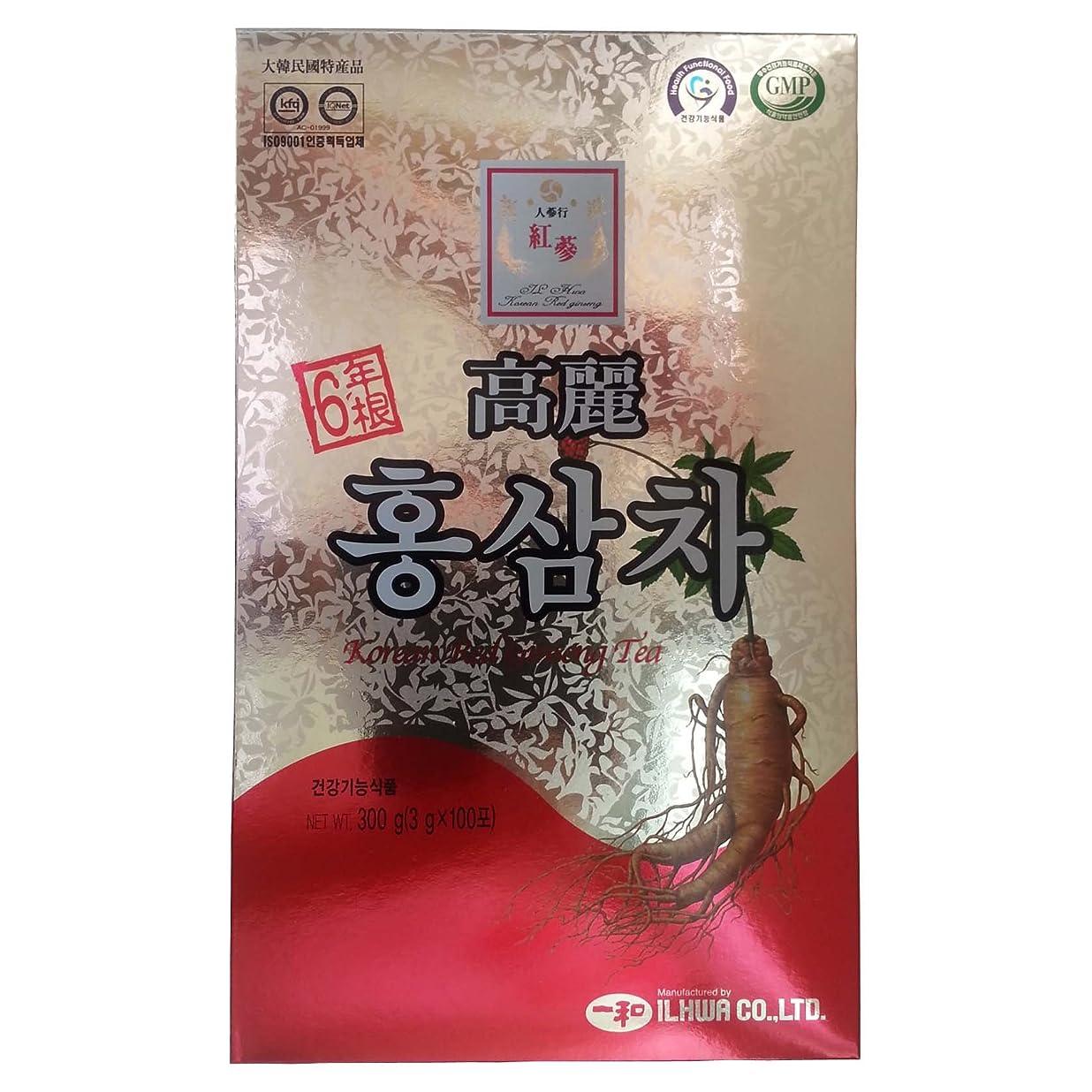 野菜今ペレット高麗人参 一和高麗紅参茶 6年根 3g×100包 【並行輸入品】