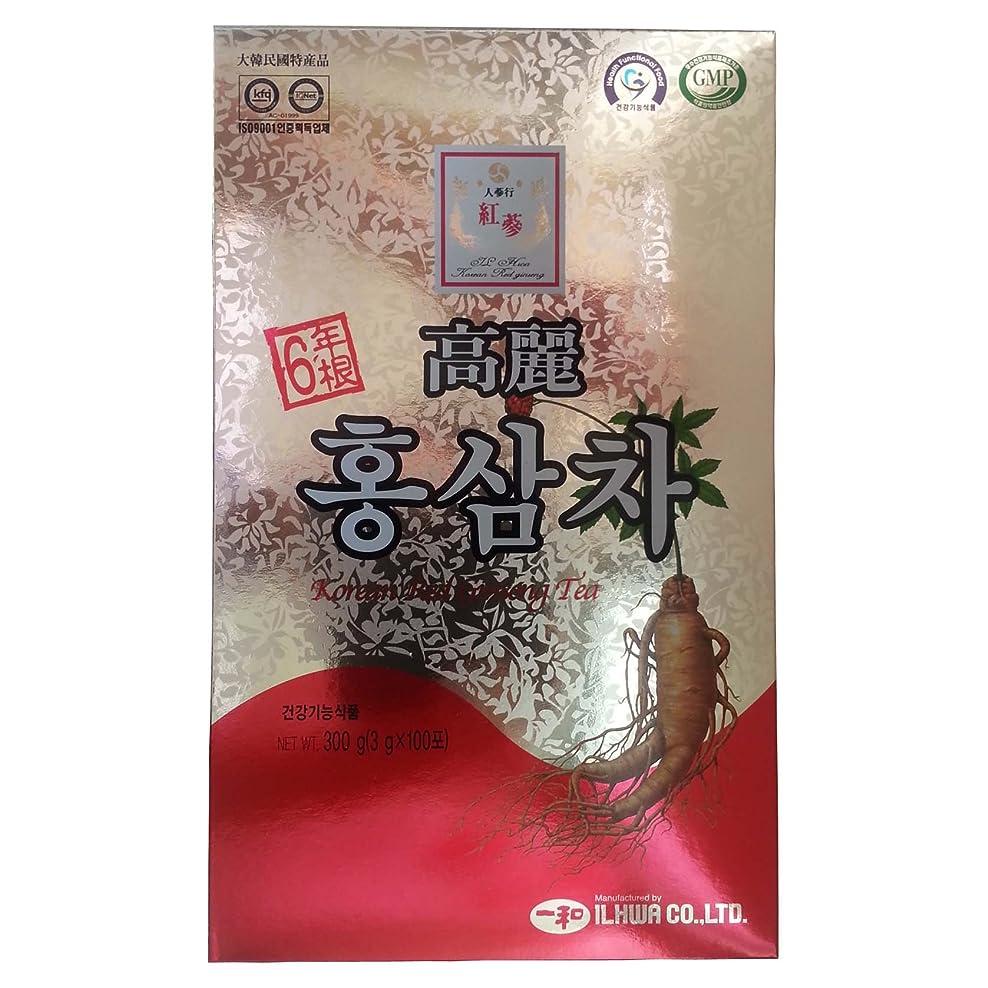 消毒剤険しいバンケット高麗人参 一和高麗紅参茶 6年根 3g×100包 【並行輸入品】
