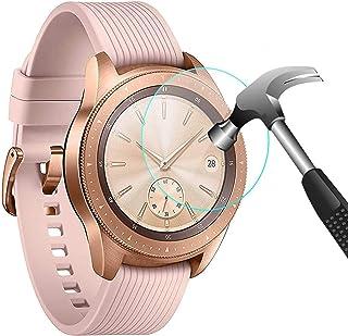 واقي شاشة CAVN 4-Pack متوافق مع ساعة سامسونج جالاكسي 42 مم من الزجاج المقسى المقاوم للماء متوافق مع ساعة سامسونج جالاكسي 4...