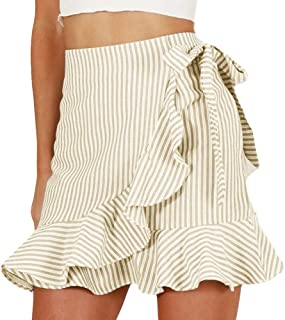 SkirtsforWomens Elastic High Waisted Loose Skirt Tassel Stretch Bodycon Below Knee Skirt