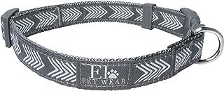 Elo Pet Wear Classic Grey and White Designer Arrow Dog Collar