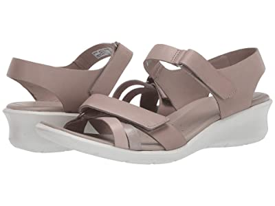 ECCO Felicia Ankle Strap Sandal (Grey Rose/Mon Rock Silver/Moon Rock Calf Leather/Cow Leather/Cow) Women