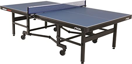 STIGA Premium ITTF Approved Compact Tennis Table – Folds to Minimal Storage Dimensions and Comes Fully Assembled